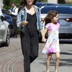 Jenna Dewan in a Black Jumpsuit