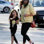 Jenna Dewan in a Yellow Hoody