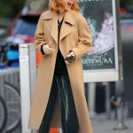 Jessica Chastain in a Beige Coat