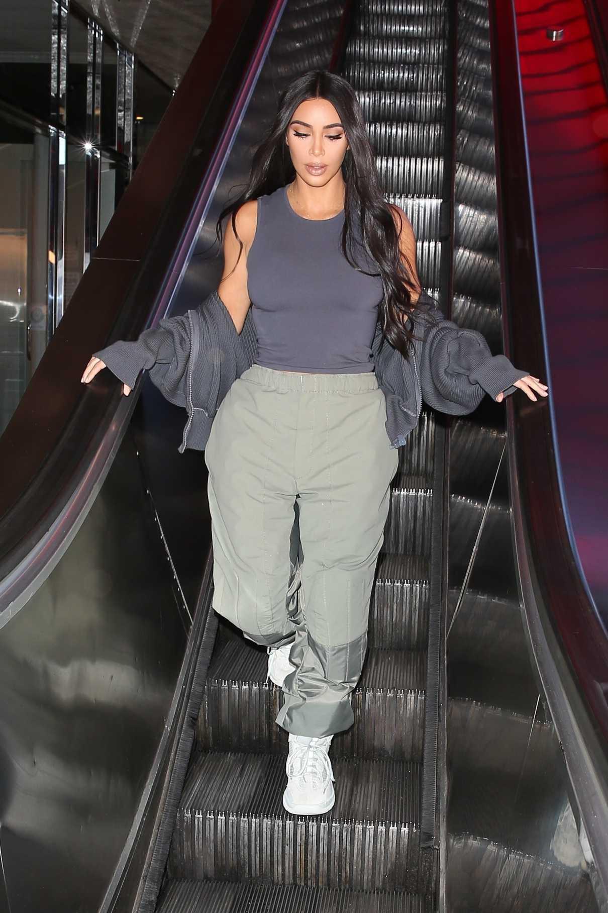 Kim Kardashian in a White Sneakers