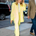 Margot Robbie in a Yellow Suit