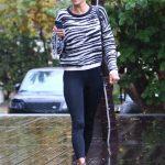 Alessandra Ambrosio in a Black Leggings