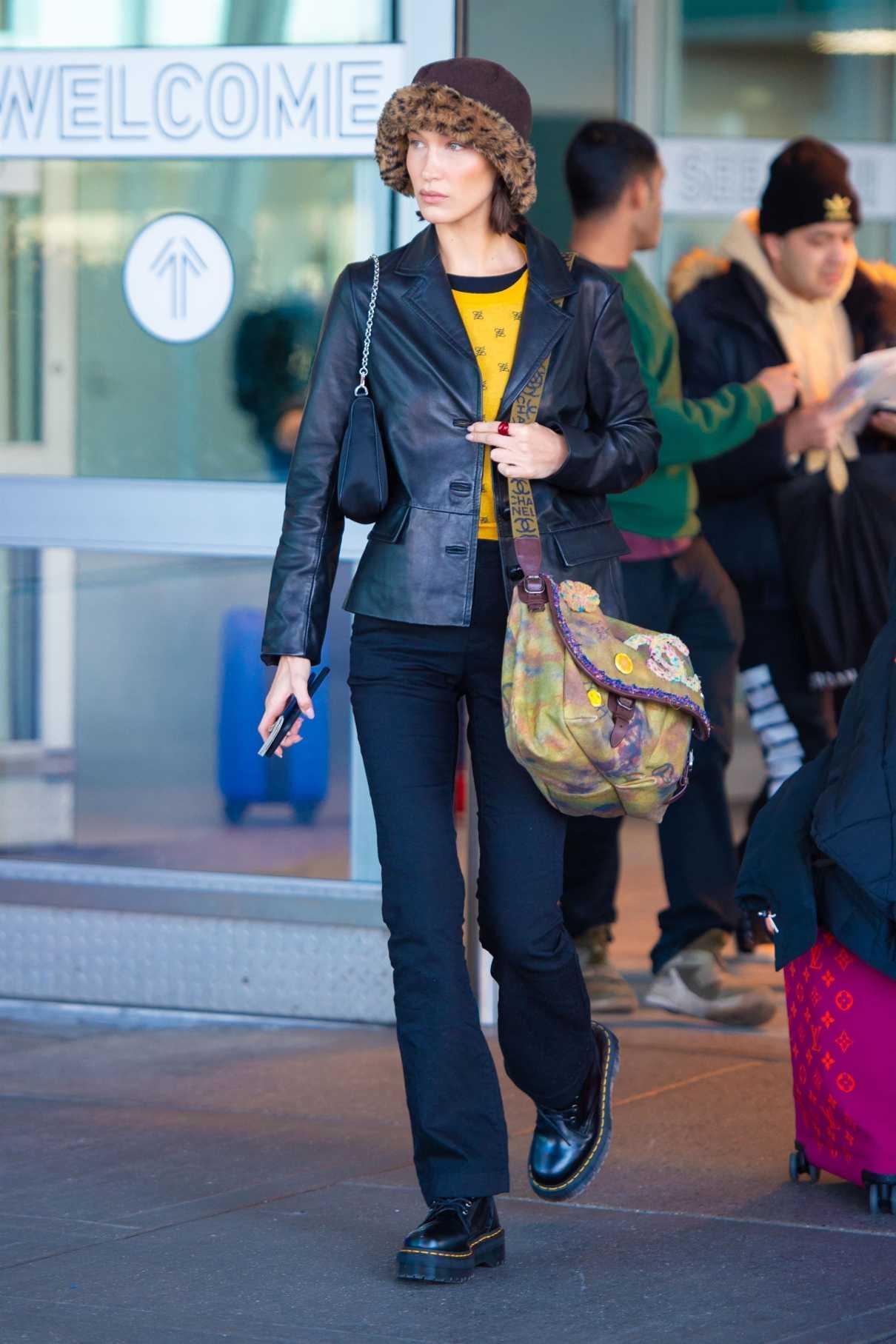 Bella Hadid in a Black Dr Martens Boots