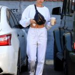Hailey Baldwin in a White Sneakers Was Seen Out in West Hollywood 11/16/2019