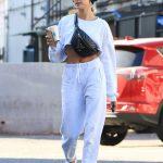 Hailey Baldwin in a White Sneakers