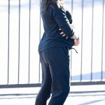 Jenna Dewan in a Black Jogging Suit