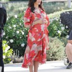 Jenna Dewan in a Red Floral Dress