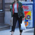 Karlie Kloss in a Green Jacket