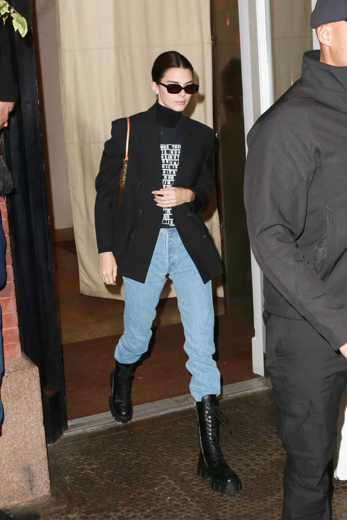 Kendall Jenner in a Black Blazer