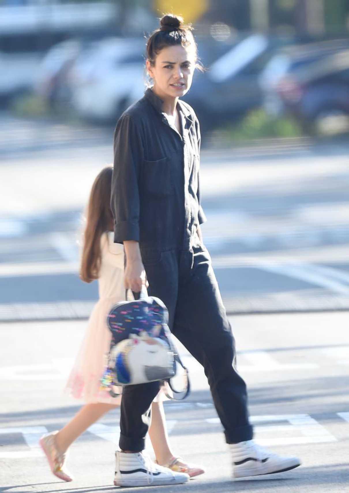 Mila Kunis in a White Sneakers