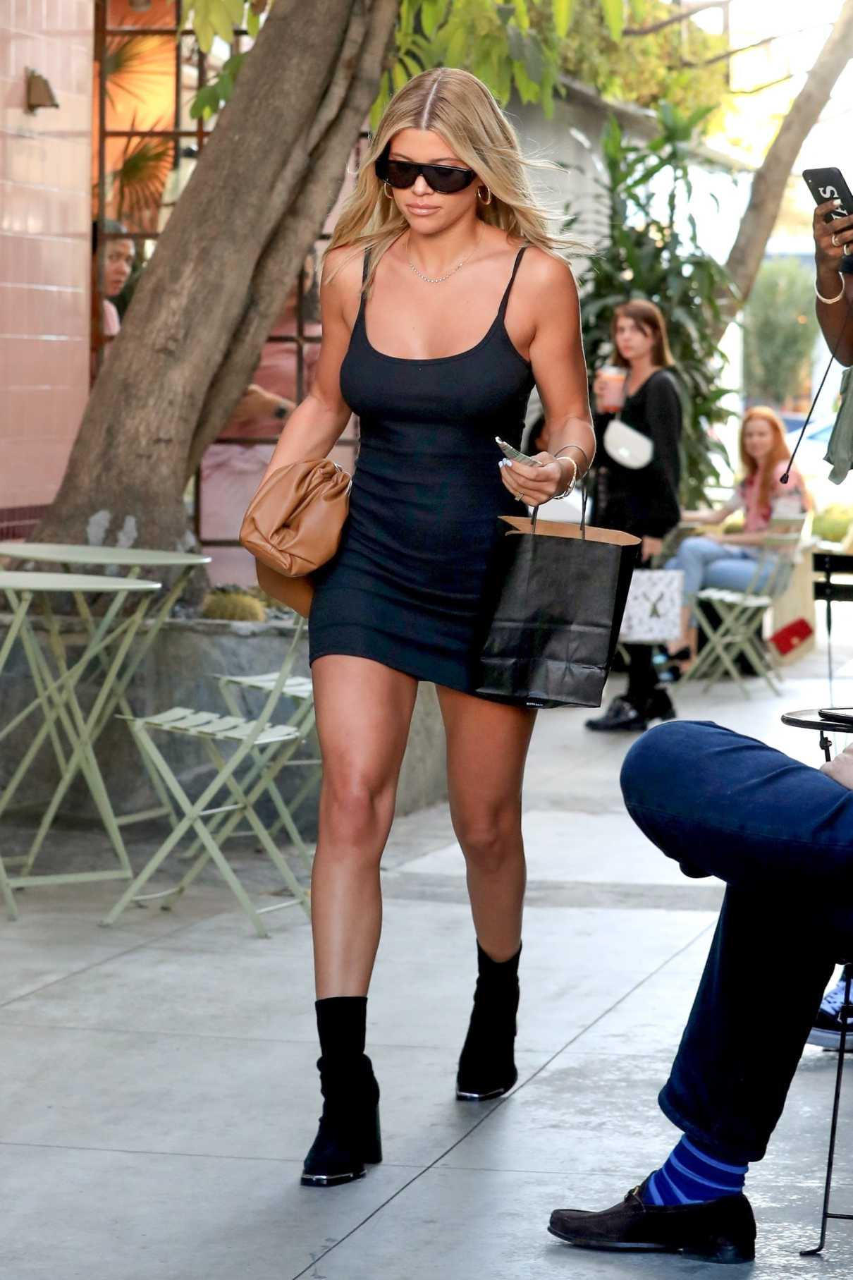Sofia Richie in a Short Black Dress