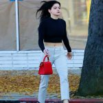 Ariel Winter in a Checked Pants