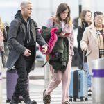 Bella Thorne in a Pink Sweatpants