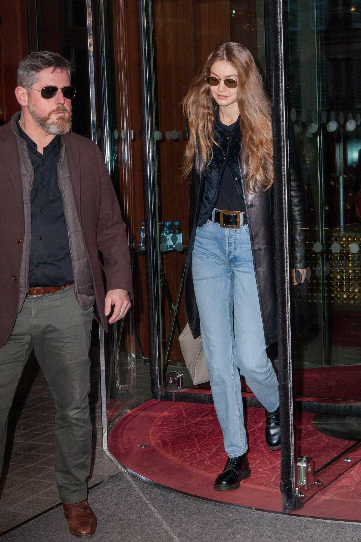 Gigi Hadid in a Blue Jeans