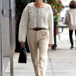Hailey Baldwin in a White Sweater Was Seen Out in Beverly Hills 12/08/2019