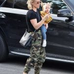 Hilary Duff in a Camo Sweatpants