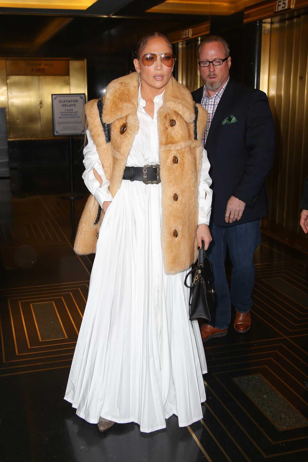 Jennifer Lopez in a White Dress