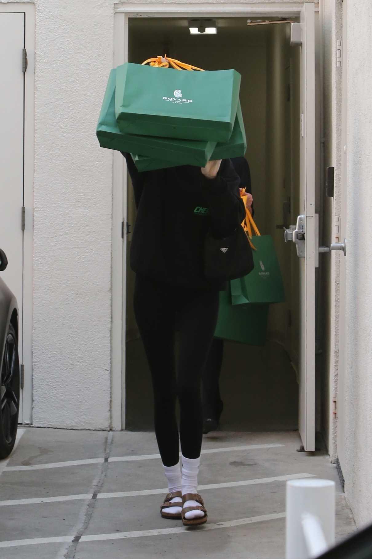 Kendall Jenner in a Black Sweatshirt
