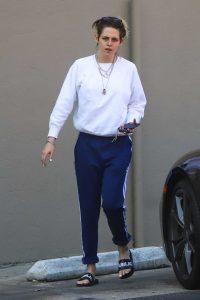 Kristen Stewart in a White Sweatshirt