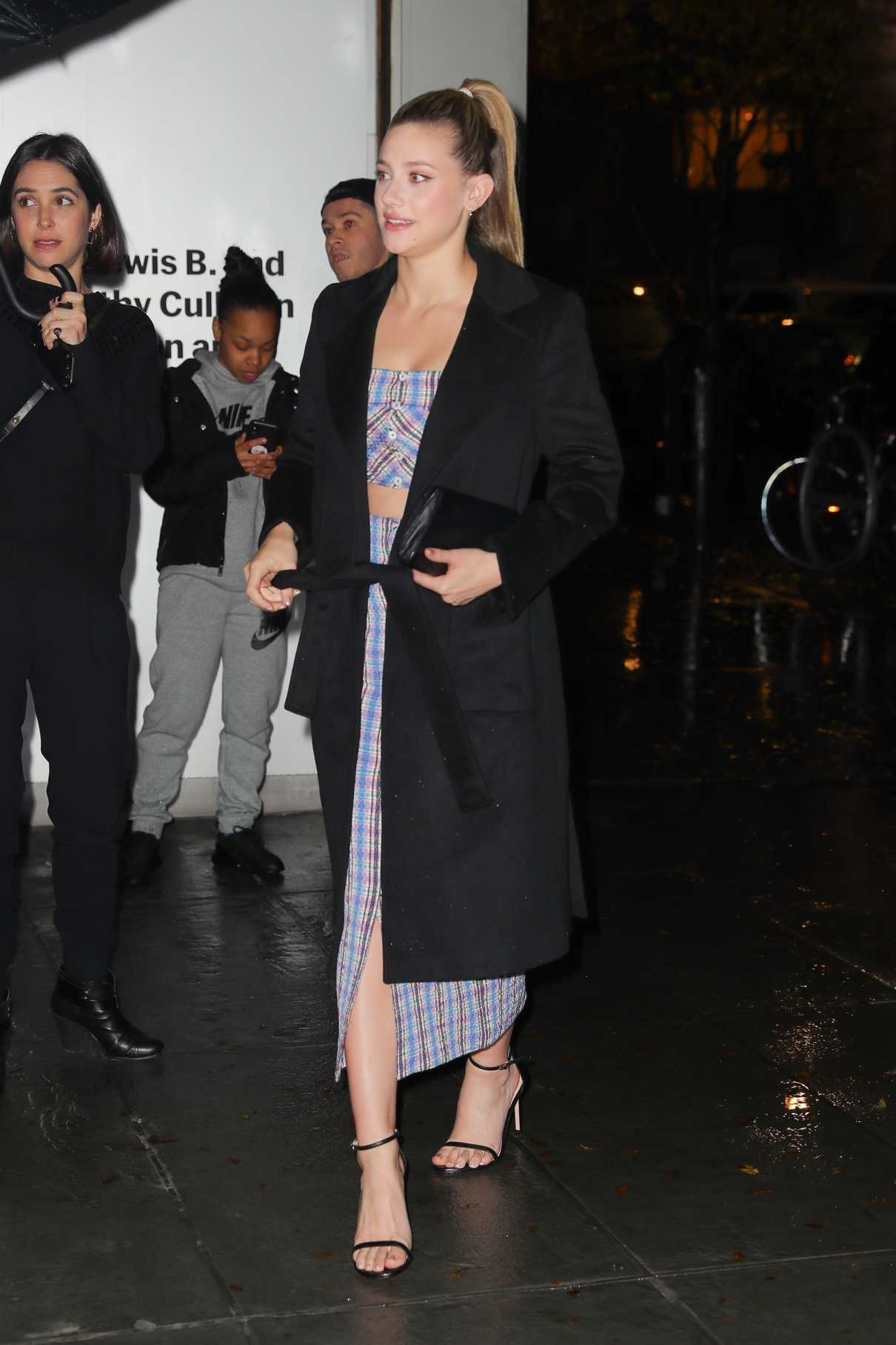 Lili Reinhart in a Black Coat