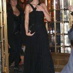 Lily Aldridge in a Black Dress Leaves a Bulgari Event in New York 12/10/2019