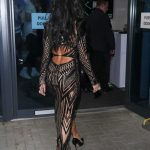 Nicole Scherzinger in a Black See-Through Dress