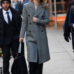 Olivia Wilde in a Gray Coat