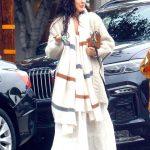 Rumer Willis in a White Dress