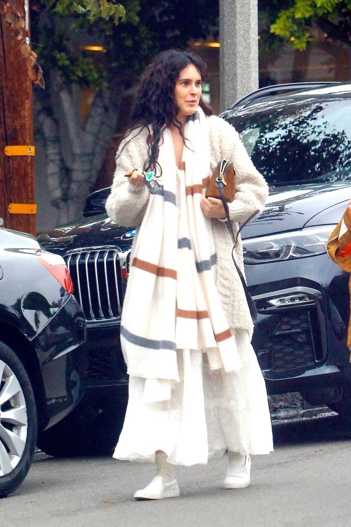 Rumer Willis in a White Dress
