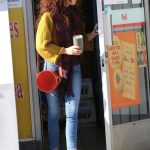 Sarah Hyland in a White Sneakers Was Seen Out with Wells Adams in Los Angeles 12/15/2019