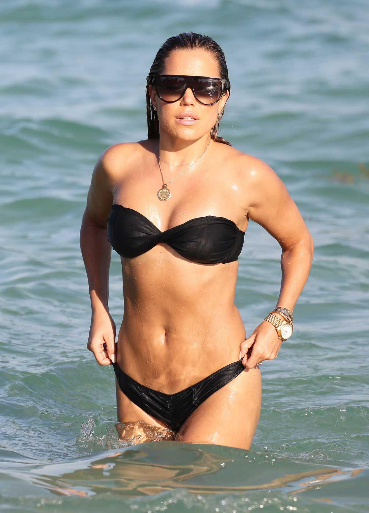 Sylvie Meis in a Black Bikini
