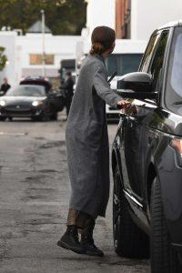 Zendaya in a Gray Cardigan
