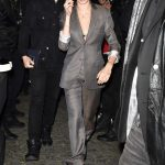 Cara Delevingne in a Gray Suit