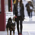 Emily Ratajkowski in a Black Jacket