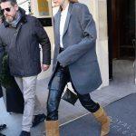 Gigi Hadid in a Gray Blazer