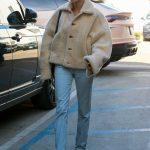 Hailey Bieber in a Blue Jeans