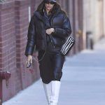Irina Shayk in a Black Cap Was Seen Out in New York 01/29/2020