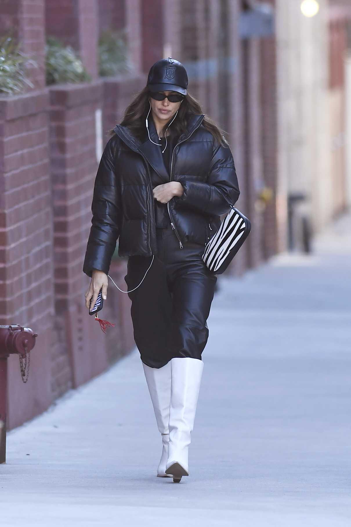 Irina Shayk in a Black Cap