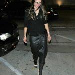 Jordana Brewster in a Black Skirt