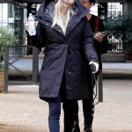 Kaley Cuoco in a Gray Knit Hat Was Seen Out in Rome, Italy 01/13/2020