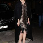 Karlie Kloss in a Black Coat