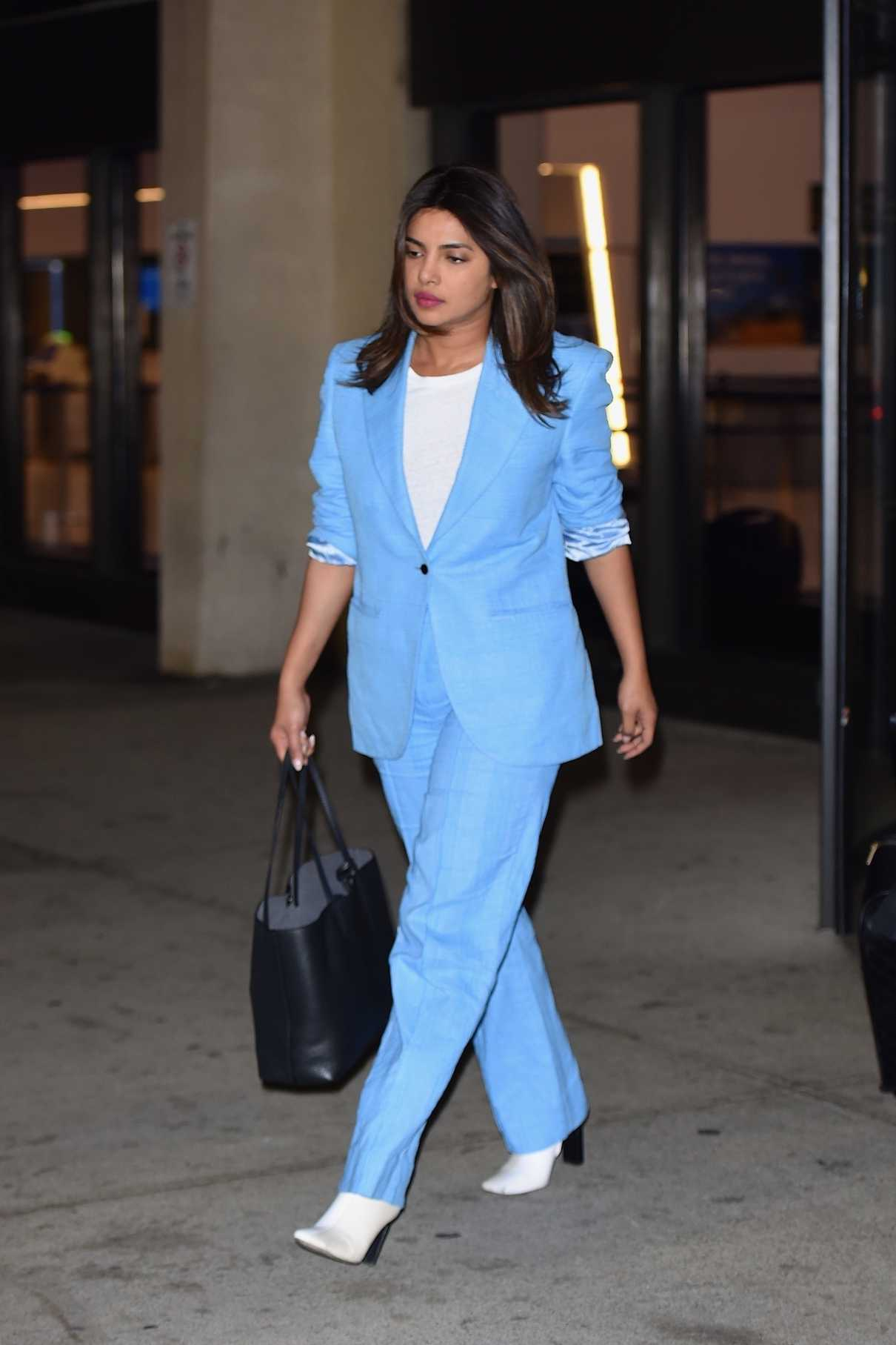Priyanka Chopra in a Blue Suit