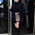 Anna Kendrick in a Blue Coat