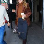 Gigi Hadid in a Blue Ripped Jeans