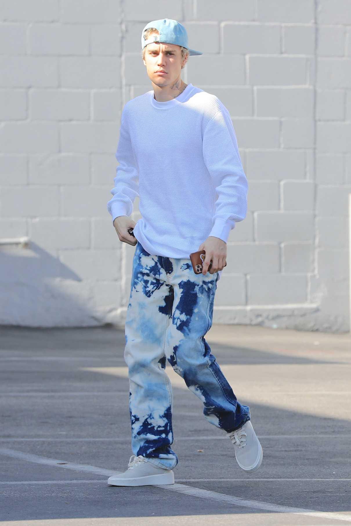 Justin Bieber in a Blue Cap