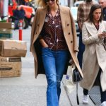 Karlie Kloss in a Blue Ripped Jeans