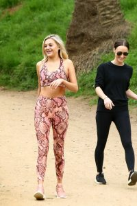 Kelsea Ballerini in a Snakeskin Workout Clothes