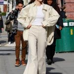 Kendall Jenner in a Beige Suit