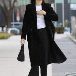 Kendall Jenner in a Black Coat