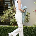 Kendall Jenner in a White Tank Top